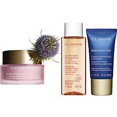 Комплект Clarins My early anti-wrinkle and radiance essentials. - Douglas