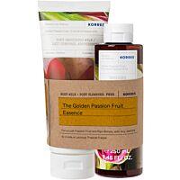 Комплект KORRES Golden Passionfruit Body Milk & Shower Gel - Douglas