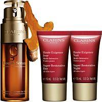 Комплект Clarins Double Serum & Super Restorative Anti-aging routine - Douglas