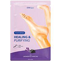 Stay Well Healing & Purifying Foot Mask CHARCOAL - Douglas
