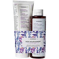 Комплект KORRES Almond & Linseed - Conditioner & Shampoo - Douglas