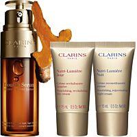 Комплект Clarins Double Serum & Nutri-Lumiere Anti-aging routine - Douglas